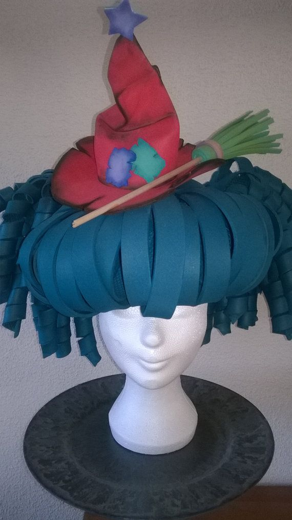 Bluegreen Witch Foam Wig by LadyMallemour on Etsy