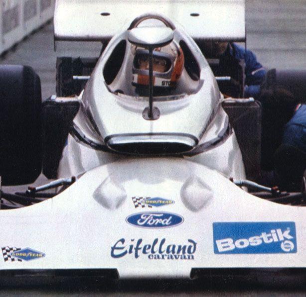 Rolf Stommelen in a 1971 Eifelland-Ford Formula 1 designed by Luigi Colani