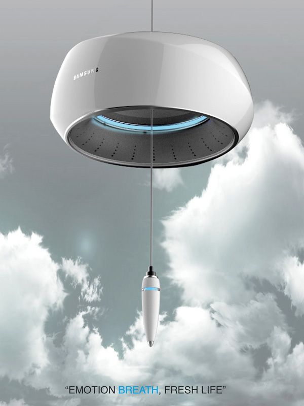 Wind Bell – Air Cleaner and Aroma Dispenser by Kim Edo » Yanko Design