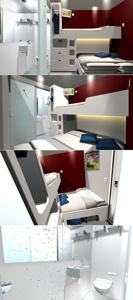 Snoozebox is a UK-based portable microhotel that has converted shipping containers into banks of tiny hotel rooms.