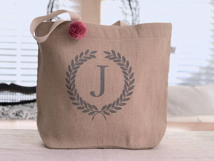 Personalized Jute Tote Bag,Beach Bag, Zippered Diaper Bag, Gifts For Mom,Bridesmaid Gifts,Monogram tote Bag,Burlap Bag, weekend bag by ColorONEcreations on Etsy https://www.etsy.com/listing/578967057/personalized-jute-tote-bagbeach-bag