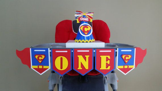 Superman banner, superman highchair banner, superman party decoration, superman first birthday  Check out this item in my Etsy shop https://www.etsy.com/listing/455742250/superman-high-chair-banner-superman-i-am