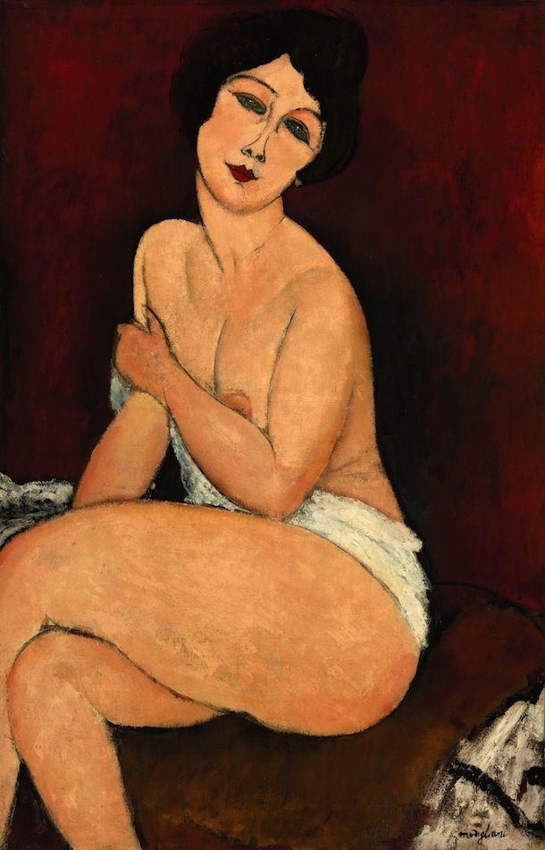 Amedeo #Modigliani #Nu Assis Sur un Divan (La Belle Romaine)…
