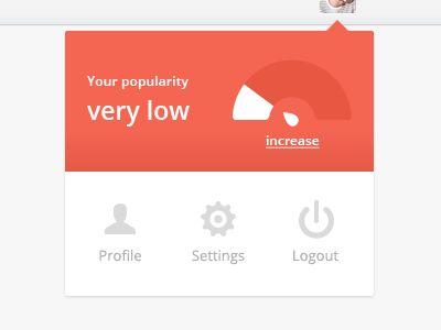 Profile dropdown menu by Oykun