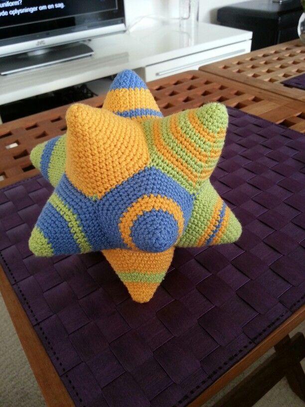 Crochet star-ball made for my friends little babyboy.