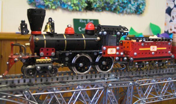 4-4-0 American Locomotive made in Meccano