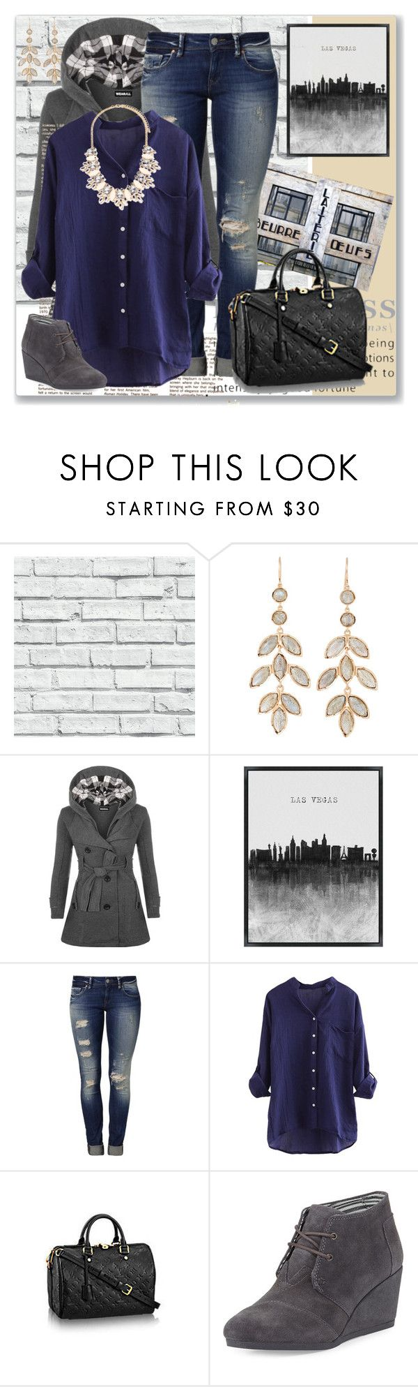 """Forever 21 Statement Necklace"" by xoxomaddiegirl ❤ liked on Polyvore featuring Irene Neuwirth, WearAll, Mavi, Empreinte, TOMS and Forever 21"