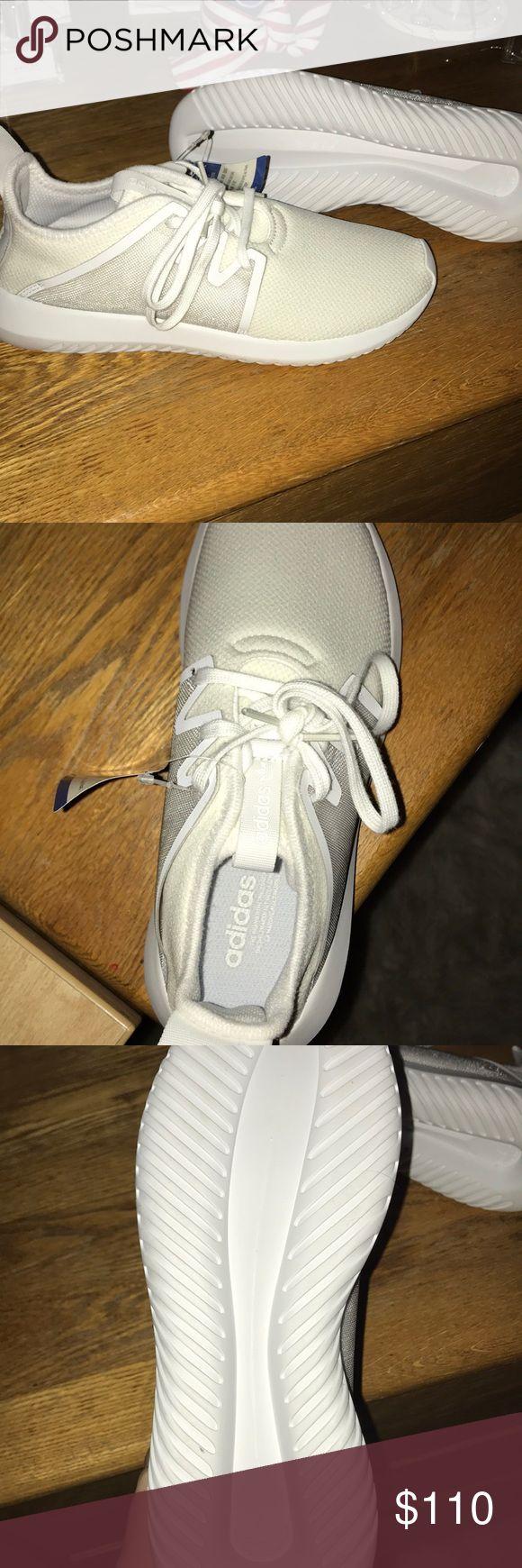 Adidas Tubular NEVER WORN All white Adidas Tubular sneakers, never worn adidas Shoes Athletic Shoes