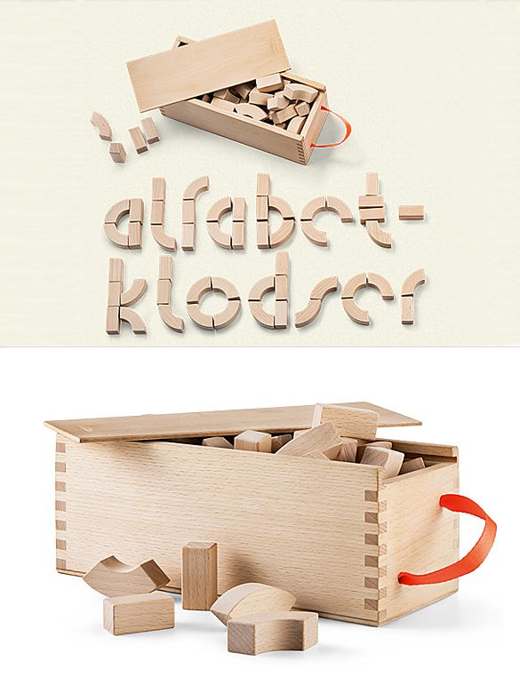 This wooden block set has been created by Kay Bojesen for Danish schools in 1950s. This year the company is relaunching it, and now the Alphabet Blocks are available for children everywhere. Th...