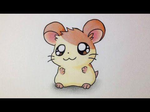Comment dessiner un Hamster Kawaii [Tutoriel] 'Hamtaro' - YouTube