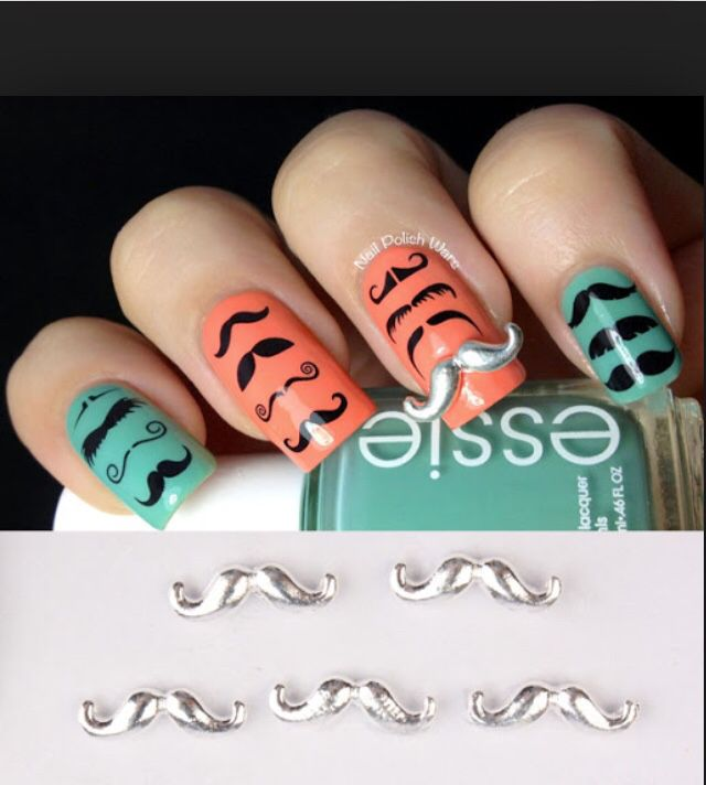 mostache nails