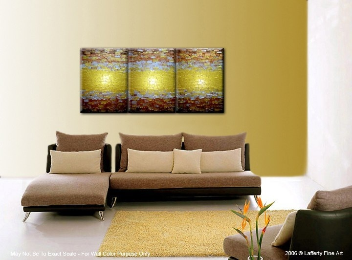 Abstract Painting, Textured Metallic Art, Large Gold Paintings, Original Bronze Reflective Paintings, Fine Art by Lafferty - 72 X 30. $247.00, via Etsy.