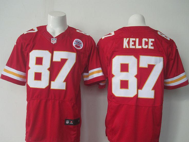 ... Mens NFL Kansas City Chiefs 87 Travis Kelce Red Elite Jersey Nike ... 438e61774