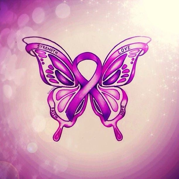 colour_me_creative I did this butterfly for a special follower @virginiaknightt I saw her comment on one of my photo's and it touched my heart. This strong follower has Crohn's disease and asked if I would draw a purple butterfly for her as it represents the disease she has.