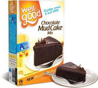 Well and Good Gluten Free Chocolate Mud Cake Mix. #wellandgood