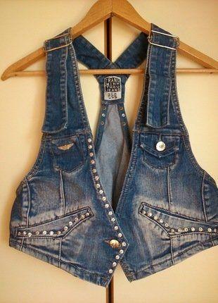 Kup mój przedmiot na #vintedpl http://www.vinted.pl/damska-odziez/marynarki-zakiety-blezery/18057665-jeansowa-denim-krotka-kamizelka