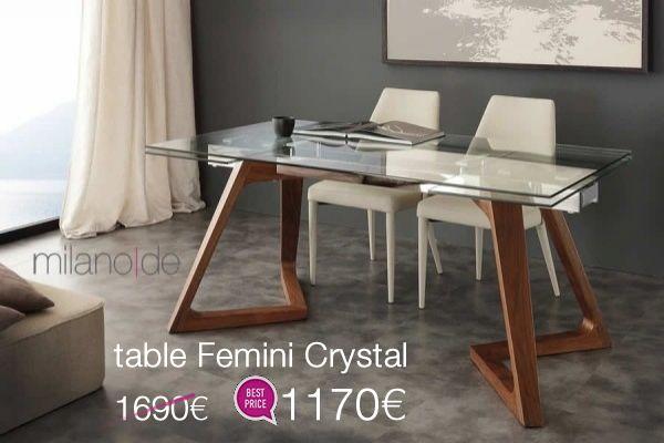 """Γεωμετρικά, κομψά φινιρίσματα σε έναν all around """"αιχμηρό"""" σχεδιασμό. #Τραπέζι Femini από τη Milanode και το #μοντέρνο συναντά το πρακτικό.   https://www.milanode.gr/product/gr/2622/trapezi_femini_crystal.html"""