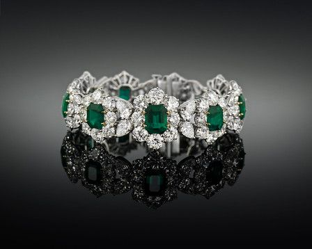 Colombian emeralds are renowned for their spectacular green color, intensity and quality ~ M.S. Rau Antiques