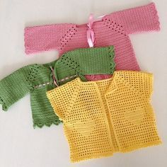 #crochet cardigans made a long time ago for my baby girl