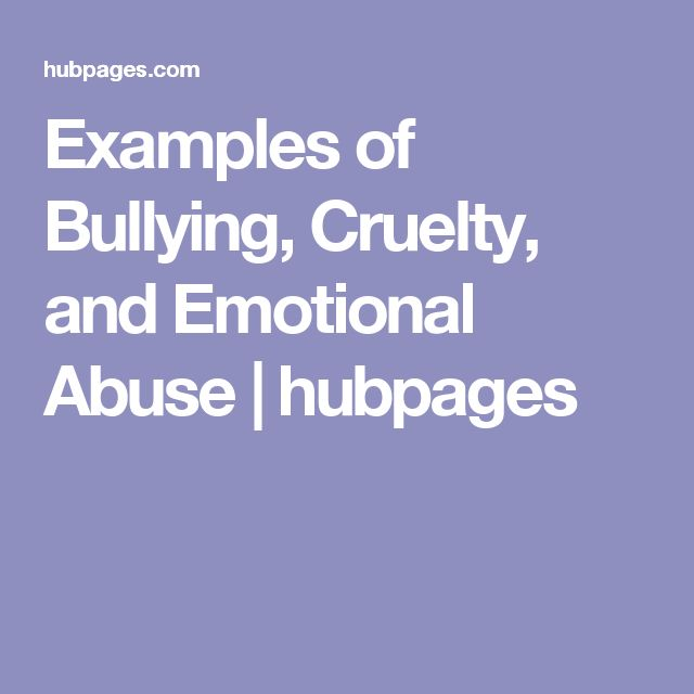 emotional bullying Emotional bullying is something everyone remembers from their childhood emotional bullying is when a person tries to get what they want by making others feel angry or afraid.