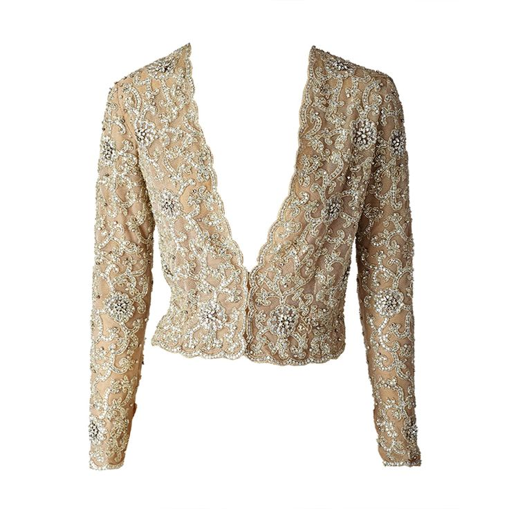 MW Moss Lessage Embroidered On Tulle Jacket at 1stdibs