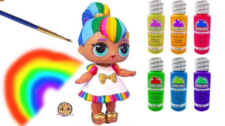 Rainbow BB DIY LOL Surprise Custom Makeover Painting Video – Do It Yourself Craft