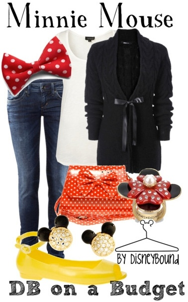 i'd use some other shoes   minnie mouse outfit