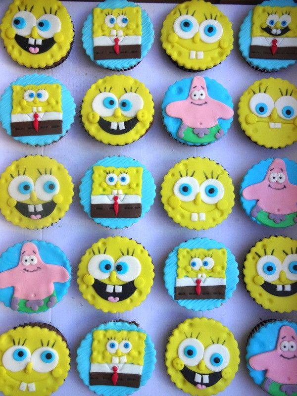 Cupcakes Bob Esponja - Conqualita Cestas - Para fazer pedidos ou mais informações por e-mail conqualita@conqualita.com.br ou fone (51) 3356.1422