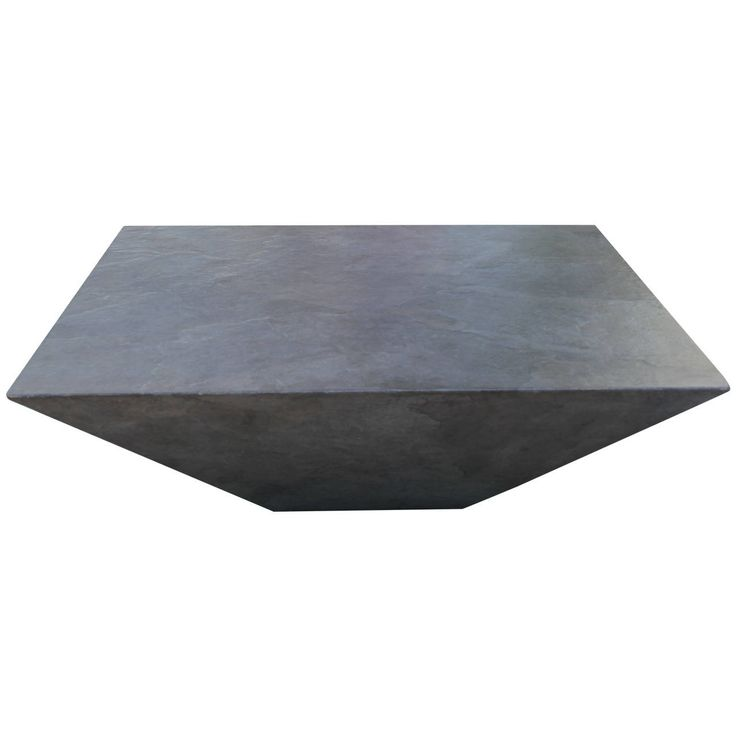 Midcentury Geometric Faux Slate Coffee Table