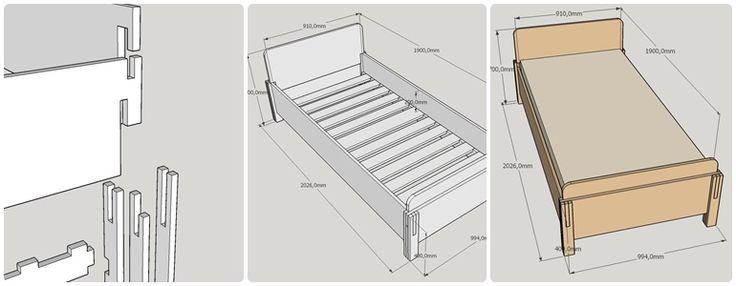 Кровать из фанеры в SketchUP