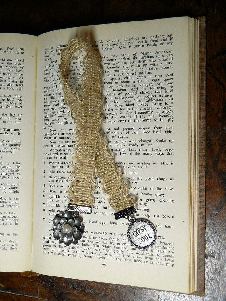 Gypsy Soul Ribbon Bookmark, Flower Charm Ribbon Bookmark, Ribbon Bookmark with Charms, Handmade Ribbon Bookmark by TheCraftingEmporium on Etsy