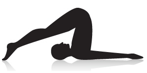 Plow Yoga Pose - Opens the neck, back, shoulders, and hamstrings.
