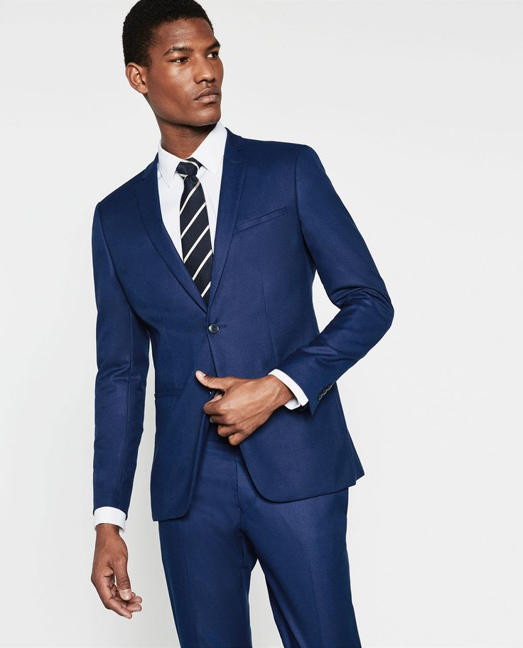 ZARA - MAN - BASIC DEEP BLUE SUIT BLAZER