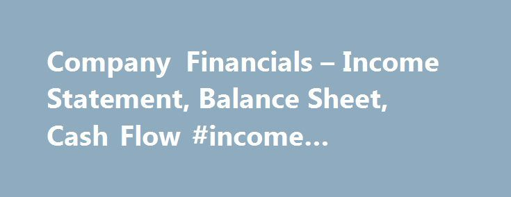Company Financials u2013 Income Statement, Balance Sheet, Cash Flow - balance sheet forms