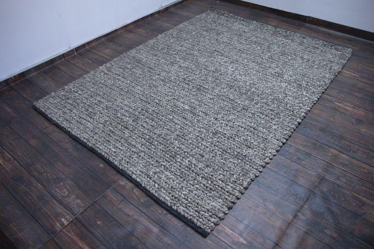 Brązowy niezwykły ręcznie tkany dywan LOOP z wełny filcowanej wakocze 3d NIEZWYKŁY TANIO! 200x300cm