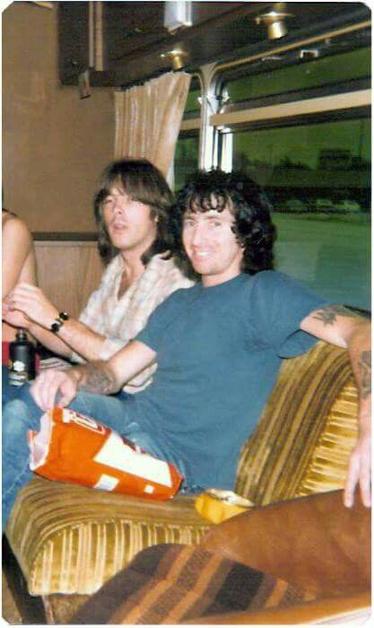 Cliff Williams and Bon Scott - AC/DC