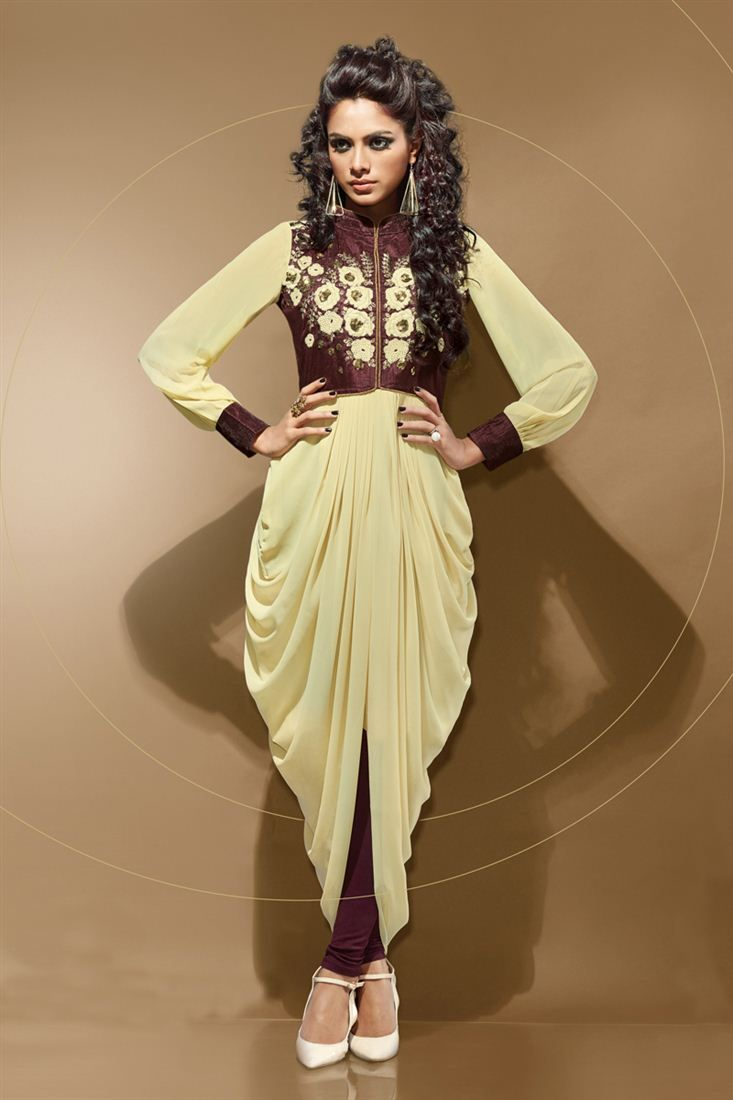 Alluring Cream Color Indo Western Designer Tunic