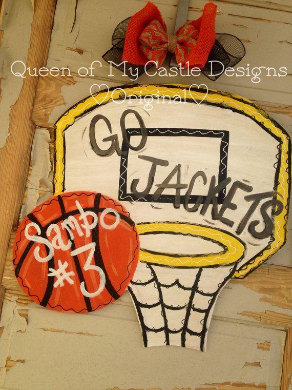 Basketball Goal Door Hanger By Queensofcastles On Etsy