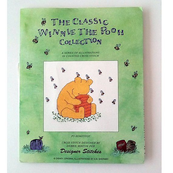 Winnie the Pooh Embroidery Kit, Cross Stitch Designed by Debbie Minton from Designer Stitches UK Art Needlework, Counted Cross Stitch Kits, by CraftSuppliesDesk on Etsy