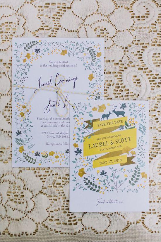 flower border wedding invitations | diy garden wedding ideas | pastel palette wedding | #weddingchicks
