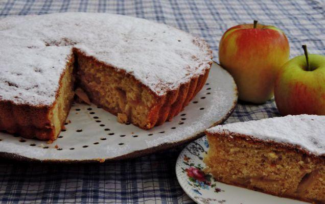 Luchtige cake met gebakken appels Appeltaart maken is altijd een feestje op zich; ik kan altijd zo genieten van de heerlijk geur van gebakken appels met kaneel