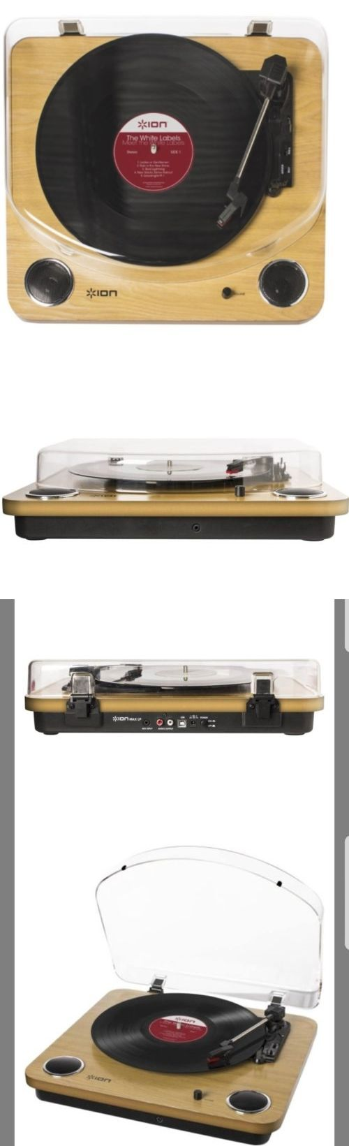 Record Players Home Turntables: Ion Audio Max Lp Conversion Turntable W Stereo Speakers Wood Grain Complete -> BUY IT NOW ONLY: $40 on eBay!