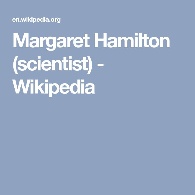 Margaret Hamilton (scientist) - Wikipedia