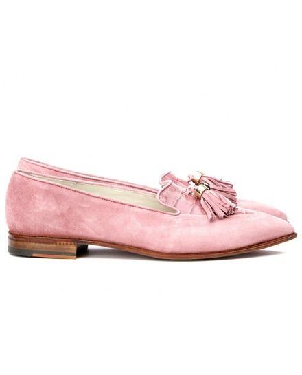 Mocasines de mujer Mister Shoes de piel en color rosa palo