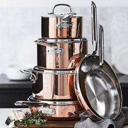 Williams-Sonoma Professional Copper 10-Piece Cookware Set