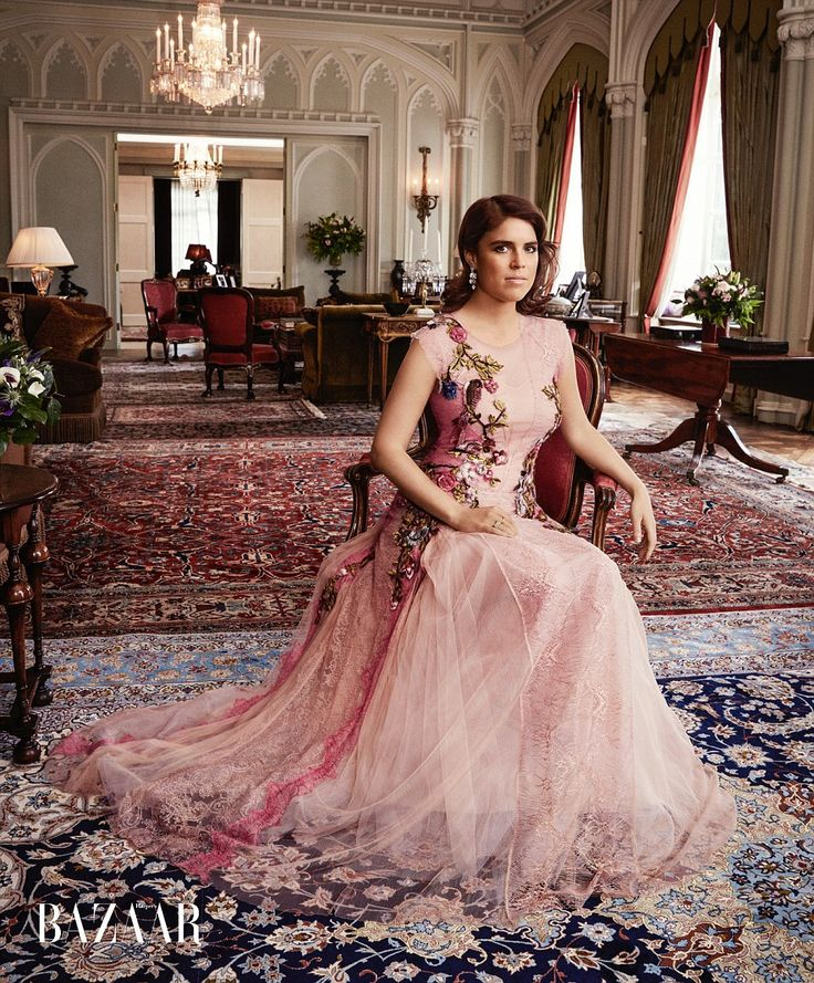 Royal shoot: Princess Eugenie poses for the latest issue of Harper's Bazaar...