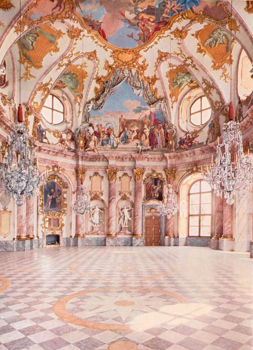 German Rococo interior. A bit too ornate, but I still am drawn to it.
