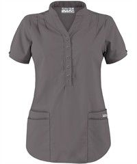 Butter-Soft Scrubs by UA� Mandarin Collar 4-Pocket Top