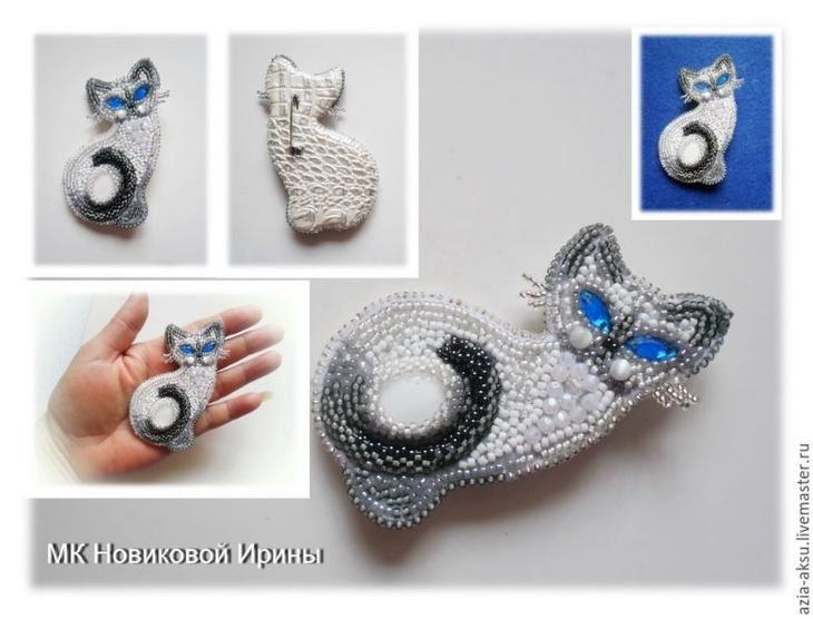 Вышиваем бисером голубоглазую сиамскую кошечку