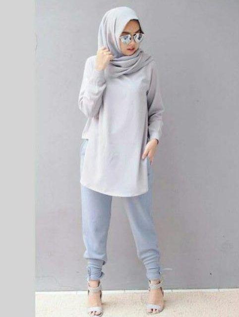 baju muslim atasan terbaru simple dan modis